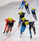 Subject: Clemens Gawer; Tags: Sport, Mass Start, Herren, Men, Gentlemen, Mann, Männer, Gents, Sirs, Mister, GER, Germany, Deutschland, Eisschnelllauf, Speed skating, Schaatsen, Detail, Clemens Gawer, Athlet, Athlete, Sportler, Wettkämpfer, Sportsman; PhotoID: 2018-11-04-0304