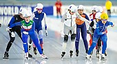 Subject: Francesca Bettrone, Claudia Pechstein, Bo-Reum Kim; Tags: Sport, Mass Start, KOR, South Korea, Südkorea, ITA, Italy, Italien, GER, Germany, Deutschland, Francesca Bettrone, Eisschnelllauf, Speed skating, Schaatsen, Detail, Daria Kamelkova, Damen, Ladies, Frau, Mesdames, Female, Women, Claudia Pechstein, Bo-Reum Kim, Athlet, Athlete, Sportler, Wettkämpfer, Sportsman; PhotoID: 2018-12-14-0009