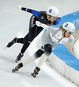 Subject: Saskia Alusalu, Claudia Pechstein; Tags: Sport, Saskia Alusalu, Mass Start, GER, Germany, Deutschland, Eisschnelllauf, Speed skating, Schaatsen, EST, Estonia, Estland, Detail, Daria Kamelkova, Damen, Ladies, Frau, Mesdames, Female, Women, Claudia Pechstein, Athlet, Athlete, Sportler, Wettkämpfer, Sportsman; PhotoID: 2018-12-14-0147