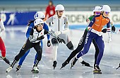 Subject: Nana Takagi, Roxanne Dufter, Melissa Wijfje; Tags: Sport, Roxanne Dufter, Nana Takagi, NED, Netherlands, Niederlande, Holland, Dutch, Melissa Wijfje, Mass Start, JPN, Japan, Nippon, GER, Germany, Deutschland, Eisschnelllauf, Speed skating, Schaatsen, Detail, Daria Kamelkova, Damen, Ladies, Frau, Mesdames, Female, Women, Athlet, Athlete, Sportler, Wettkämpfer, Sportsman; PhotoID: 2018-12-14-0231
