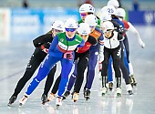 Subject: Francesca Lollobrigida; Tags: Sport, Mass Start, ITA, Italy, Italien, Francesca Lollobrigida, Eisschnelllauf, Speed skating, Schaatsen, Detail, Daria Kamelkova, Damen, Ladies, Frau, Mesdames, Female, Women, Athlet, Athlete, Sportler, Wettkämpfer, Sportsman; PhotoID: 2018-12-14-0236