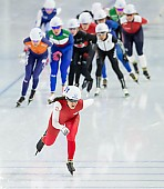 Subject: Magdalena Czyszczoń; Tags: Sport, POL, Poland, Polen, Mass Start, Magdalena Czyszczoń, Eisschnelllauf, Speed skating, Schaatsen, Detail, Daria Kamelkova, Damen, Ladies, Frau, Mesdames, Female, Women, Athlet, Athlete, Sportler, Wettkämpfer, Sportsman; PhotoID: 2018-12-14-0309
