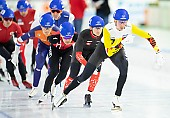 Subject: Livio Wenger, Bart Swings; Tags: Sport, SUI, Bulgaria, Bulgarien, Mass Start, Livio Wenger, Herren, Men, Gentlemen, Mann, Männer, Gents, Sirs, Mister, Eisschnelllauf, Speed skating, Schaatsen, Detail, Daria Kamelkova, Bart Swings, BEL, Belgium, Belgien, Athlet, Athlete, Sportler, Wettkämpfer, Sportsman; PhotoID: 2018-12-14-0589
