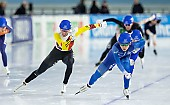 Subject: Bart Swings, Jaewon Chung; Tags: Sport, Mass Start, KOR, South Korea, Südkorea, Jaewon Chung, Eisschnelllauf, Speed skating, Schaatsen, Detail, Daria Kamelkova, Bart Swings, BEL, Belgium, Belgien, Athlet, Athlete, Sportler, Wettkämpfer, Sportsman, Herren, Men, Gentlemen, Mann, Männer, Gents, Sirs, Mister; PhotoID: 2018-12-14-0678