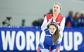 Subject: Natalia Czerwonka, Ekaterina Shikhova; Tags: Daria Kamelkova, Damen, Ladies, Frau, Mesdames, Female, Women, Athlet, Athlete, Sportler, Wettkämpfer, Sportsman, Sport, RUS, Russian Federation, Russische Föderation, Russia, POL, Poland, Polen, Natalia Czerwonka, Ekaterina Shikhova, Eisschnelllauf, Speed skating, Schaatsen; PhotoID: 2018-12-15-0746