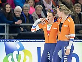 Subject: Ireen Wüst, Lotte van Beek; Tags: NED, Netherlands, Niederlande, Holland, Dutch, Lotte van Beek, Ireen Wüst, Eisschnelllauf, Speed skating, Schaatsen, Daria Kamelkova, Damen, Ladies, Frau, Mesdames, Female, Women, Sport, Athlet, Athlete, Sportler, Wettkämpfer, Sportsman; PhotoID: 2018-12-15-0782