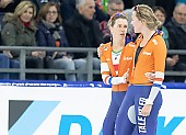 Subject: Ireen Wüst, Lotte van Beek; Tags: Sport, NED, Netherlands, Niederlande, Holland, Dutch, Lotte van Beek, Ireen Wüst, Eisschnelllauf, Speed skating, Schaatsen, Daria Kamelkova, Damen, Ladies, Frau, Mesdames, Female, Women, Athlet, Athlete, Sportler, Wettkämpfer, Sportsman; PhotoID: 2018-12-15-0783