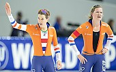 Subject: Ireen Wüst, Lotte van Beek; Tags: Sport, NED, Netherlands, Niederlande, Holland, Dutch, Lotte van Beek, Ireen Wüst, Eisschnelllauf, Speed skating, Schaatsen, Daria Kamelkova, Damen, Ladies, Frau, Mesdames, Female, Women, Athlet, Athlete, Sportler, Wettkämpfer, Sportsman; PhotoID: 2018-12-15-0785