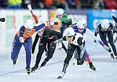Subject: Irene Schouten, Ivanie Blondin, Nana Takagi; Tags: Sport, Nana Takagi, NED, Netherlands, Niederlande, Holland, Dutch, JPN, Japan, Nippon, Ivanie Blondin, Irene Schouten, Eisschnelllauf, Speed skating, Schaatsen, Daria Kamelkova, Damen, Ladies, Frau, Mesdames, Female, Women, CAN, Canada, Kanada, Athlet, Athlete, Sportler, Wettkämpfer, Sportsman; PhotoID: 2018-12-15-0981