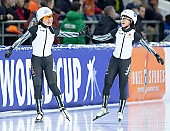 Subject: Ayano Sato, Nana Takagi; Tags: Sport, Nana Takagi, JPN, Japan, Nippon, Eisschnelllauf, Speed skating, Schaatsen, Ayano Sato, Athlet, Athlete, Sportler, Wettkämpfer, Sportsman, Daria Kamelkova, Damen, Ladies, Frau, Mesdames, Female, Women; PhotoID: 2018-12-15-0990