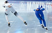 Subject: Roxanne Dufter, Ji Woo Park; Tags: Eisschnelllauf, Speed skating, Schaatsen, Daria Kamelkova, Damen, Ladies, Frau, Mesdames, Female, Women, Athlet, Athlete, Sportler, Wettkämpfer, Sportsman, Sport, Roxanne Dufter, KOR, South Korea, Südkorea, Ji Woo Park, GER, Germany, Deutschland; PhotoID: 2018-12-16-0341