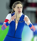 Subject: Elena Sokhryakova; Tags: Sport, RUS, Russian Federation, Russische Föderation, Russia, Elena Sokhryakova, Eisschnelllauf, Speed skating, Schaatsen, Daria Kamelkova, Damen, Ladies, Frau, Mesdames, Female, Women, Athlet, Athlete, Sportler, Wettkämpfer, Sportsman; PhotoID: 2018-12-16-0766