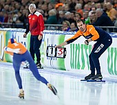 Subject: Wouter olde Heuvel; Tags: Wouter Olde Heuvel, Trainer, Coach, Betreuer, Sport, NED, Netherlands, Niederlande, Holland, Dutch, Eisschnelllauf, Speed skating, Schaatsen, Daria Kamelkova; PhotoID: 2018-12-16-0831