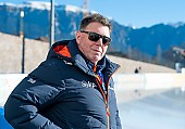 Subject: Jan Coopmans; Tags: Trainer, Coach, Betreuer, Sport, Jan Coopmans, GER, Germany, Deutschland, Eisschnelllauf, Speed skating, Schaatsen, Daria Kamelkova; PhotoID: 2019-01-11-0027
