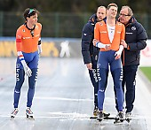 Subject: Sven Kramer, Patrick Roest, Jacques Orie; PhotoID: 2019-01-13-0364