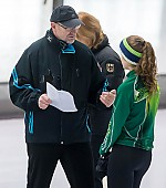 Subject: André Hoffmann; Tags: André Hoffmann, Daria Kamelkova, Eisschnelllauf, Speed skating, Schaatsen, GER, Germany, Deutschland, Sport, Trainer, Coach, Betreuer; PhotoID: 2019-01-19-0268