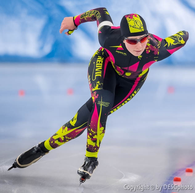 Katharina Pönisch; Tags: Sport, Katharina Pönisch, GER, Germany, Deutschland, Eisschnelllauf, Speed skating, Schaatsen, Daria Kamelkova, Damen, Ladies, Frau, Mesdames, Female, Women, Athlet, Athlete, Sportler, Wettkämpfer, Sportsman; PhotoID: 2019-02-02-0013