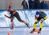 Subject: Gianina Künstler, Michelle Günther; Tags: Sport, Michelle Günther, Gianina Künstler, GER, Germany, Deutschland, Eisschnelllauf, Speed skating, Schaatsen, Daria Kamelkova, Damen, Ladies, Frau, Mesdames, Female, Women, Athlet, Athlete, Sportler, Wettkämpfer, Sportsman; PhotoID: 2019-02-02-0022