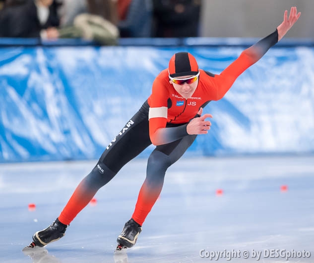 Jacob Seifert; Tags: Sport, Jacob Seifert, Herren, Men, Gentlemen, Mann, Männer, Gents, Sirs, Mister, GER, Germany, Deutschland, Eisschnelllauf, Speed skating, Schaatsen, Daria Kamelkova, Athlet, Athlete, Sportler, Wettkämpfer, Sportsman; PhotoID: 2019-02-02-0043