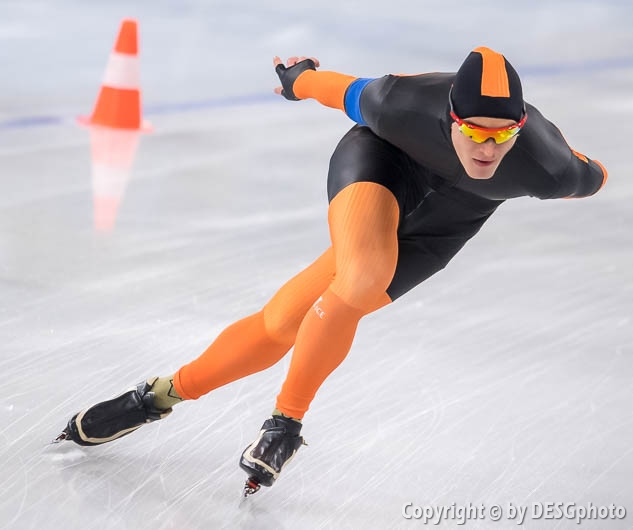 Max Reder; Tags: Sport, Max Reder, Herren, Men, Gentlemen, Mann, Männer, Gents, Sirs, Mister, GER, Germany, Deutschland, Eisschnelllauf, Speed skating, Schaatsen, Daria Kamelkova, Athlet, Athlete, Sportler, Wettkämpfer, Sportsman; PhotoID: 2019-02-02-0292
