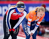 Subject: Hege Bøkko, Johanna Letitia de Jong; Tags: Athlet, Athlete, Sportler, Wettkämpfer, Sportsman, Damen, Ladies, Frau, Mesdames, Female, Women, Eisschnelllauf, Speed skating, Schaatsen, Hege Bøkko, Johanna Letitia de Jong, NED, Netherlands, Niederlande, Holland, Dutch, NOR, Norway, Norwegen, Sport; PhotoID: 2019-02-08-0021