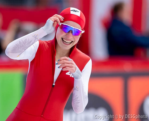 Kaja Ziomek; Tags: Athlet, Athlete, Sportler, Wettkämpfer, Sportsman, Damen, Ladies, Frau, Mesdames, Female, Women, Eisschnelllauf, Speed skating, Schaatsen, Kaja Ziomek, POL, Poland, Polen, Sport; PhotoID: 2019-02-08-0048