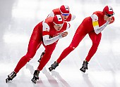 Subject: Karolina Bosiek, Magdalena Czyszczoń, Natalia Czerwonka; Tags: Athlet, Athlete, Sportler, Wettkämpfer, Sportsman, Damen, Ladies, Frau, Mesdames, Female, Women, Eisschnelllauf, Speed skating, Schaatsen, Karolina Bosiek, Magdalena Czyszczoń, Natalia Czerwonka, POL, Poland, Polen, Sport; PhotoID: 2019-02-08-0289