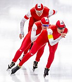 Subject: Karolina Bosiek, Magdalena Czyszczoń, Natalia Czerwonka; Tags: Athlet, Athlete, Sportler, Wettkämpfer, Sportsman, Damen, Ladies, Frau, Mesdames, Female, Women, Eisschnelllauf, Speed skating, Schaatsen, Karolina Bosiek, Magdalena Czyszczoń, Natalia Czerwonka, POL, Poland, Polen, Sport; PhotoID: 2019-02-08-0295