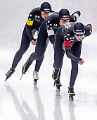 Subject: Carlijn Schoutens, Kimi Goetz, Mia Kilburg-Manganello; Tags: Athlet, Athlete, Sportler, Wettkämpfer, Sportsman, Carlijn Schoutens, Damen, Ladies, Frau, Mesdames, Female, Women, Eisschnelllauf, Speed skating, Schaatsen, Kimi Goetz, Mia Manganello, Sport, USA, United States, Vereinigte Staaten von Amerika; PhotoID: 2019-02-08-0320
