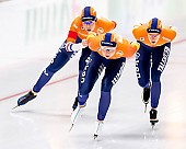 Subject: Antoinette de Jong, Ireen Wüst, Joy Beune; Tags: Antoinette de Jong, Athlet, Athlete, Sportler, Wettkämpfer, Sportsman, Damen, Ladies, Frau, Mesdames, Female, Women, Eisschnelllauf, Speed skating, Schaatsen, Ireen Wüst, Joy Beune, NED, Netherlands, Niederlande, Holland, Dutch, Sport; PhotoID: 2019-02-08-0341