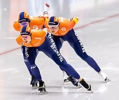 Subject: Antoinette de Jong, Ireen Wüst, Joy Beune; Tags: Antoinette de Jong, Athlet, Athlete, Sportler, Wettkämpfer, Sportsman, Damen, Ladies, Frau, Mesdames, Female, Women, Eisschnelllauf, Speed skating, Schaatsen, Ireen Wüst, Joy Beune, NED, Netherlands, Niederlande, Holland, Dutch, Sport; PhotoID: 2019-02-08-0346