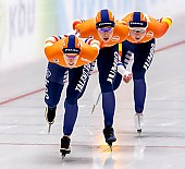 Subject: Antoinette de Jong, Ireen Wüst, Joy Beune; Tags: Antoinette de Jong, Athlet, Athlete, Sportler, Wettkämpfer, Sportsman, Damen, Ladies, Frau, Mesdames, Female, Women, Eisschnelllauf, Speed skating, Schaatsen, Ireen Wüst, Joy Beune, NED, Netherlands, Niederlande, Holland, Dutch, Sport; PhotoID: 2019-02-08-0348