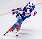 Subject: Elizaveta Kazelina, Evgeniya Lalenkova, Natalia Voronina; Tags: Athlet, Athlete, Sportler, Wettkämpfer, Sportsman, Damen, Ladies, Frau, Mesdames, Female, Women, Eisschnelllauf, Speed skating, Schaatsen, Elizaveta Kazelina, Evgeniya Lalenkova, Natalia Voronina, RUS, Russian Federation, Russische Föderation, Russia, Sport; PhotoID: 2019-02-08-0378