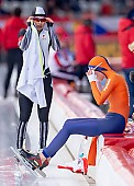 Subject: Carien Kleibeuker, Lemi Williamson; Tags: Athlet, Athlete, Sportler, Wettkämpfer, Sportsman, Carien Kleibeuker, Damen, Ladies, Frau, Mesdames, Female, Women, Eisschnelllauf, Speed skating, Schaatsen, JPN, Japan, Nippon, Lemi Williamson, NED, Netherlands, Niederlande, Holland, Dutch, Sport; PhotoID: 2019-02-09-0033