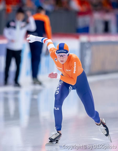 Carien Kleibeuker; Tags: Athlet, Athlete, Sportler, Wettkämpfer, Sportsman, Carien Kleibeuker, Damen, Ladies, Frau, Mesdames, Female, Women, Eisschnelllauf, Speed skating, Schaatsen, NED, Netherlands, Niederlande, Holland, Dutch, Sport; PhotoID: 2019-02-09-0036