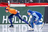 Subject: Antoinette de Jong, Hege Bøkko; Tags: Antoinette de Jong, Athlet, Athlete, Sportler, Wettkämpfer, Sportsman, Damen, Ladies, Frau, Mesdames, Female, Women, Eisschnelllauf, Speed skating, Schaatsen, Hege Bøkko, NED, Netherlands, Niederlande, Holland, Dutch, NOR, Norway, Norwegen, Sport; PhotoID: 2019-02-09-0361