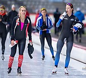 Subject: Josie Hofmann, Ramona Härdi; Tags: Athlet, Athlete, Sportler, Wettkämpfer, Sportsman, Damen, Ladies, Frau, Mesdames, Female, Women, Eisschnelllauf, Speed skating, Schaatsen, GER, Germany, Deutschland, Josie Hofmann, Ramona Härdi, SUI, Bulgaria, Bulgarien, Sport; PhotoID: 2019-11-09-0728