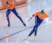 Subject: Marcel Bosker, Patrick Roest; Tags: Sport, SUI, Bulgaria, Bulgarien, Patrick Roest, NED, Netherlands, Niederlande, Holland, Dutch, Marcel Bosker, Herren, Men, Gentlemen, Mann, Männer, Gents, Sirs, Mister, Eisschnelllauf, Speed skating, Schaatsen, Athlet, Athlete, Sportler, Wettkämpfer, Sportsman; PhotoID: 2021-01-17-0241
