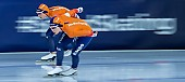 Motiv: Antoinette de Jong, Joy Beune; Tags: Antoinette de Jong, Athlet, Athlete, Sportler, Wettkämpfer, Sportsman, Damen, Ladies, Frau, Mesdames, Female, Women, Eisschnelllauf, Speed skating, Schaatsen, Joy Beune, NED, Netherlands, Niederlande, Holland, Dutch, Sport; PhotoID: 2021-02-11-0105
