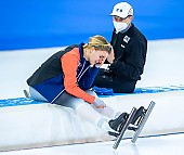 Subject: Helge Jasch, Mareike Thum; Tags: Athlet, Athlete, Sportler, Wettkämpfer, Sportsman, Damen, Ladies, Frau, Mesdames, Female, Women, Eisschnelllauf, Speed skating, Schaatsen, GER, Germany, Deutschland, Helge Jasch, Mareike Thum, Sport, Trainer, Coach, Betreuer; PhotoID: 2021-02-14-0038