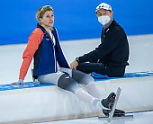 Subject: Helge Jasch, Mareike Thum; Tags: Athlet, Athlete, Sportler, Wettkämpfer, Sportsman, Damen, Ladies, Frau, Mesdames, Female, Women, Eisschnelllauf, Speed skating, Schaatsen, GER, Germany, Deutschland, Helge Jasch, Mareike Thum, Sport, Trainer, Coach, Betreuer; PhotoID: 2021-02-14-0040